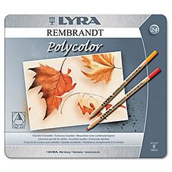 Карандаши цветные 24 цв Lyra Polycolor худ. с эфф. масл паст. мет/кор