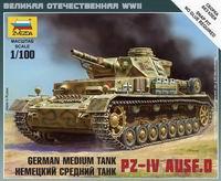 Сборная модель Немецкий средний танк PZ-IV AUSF.D 1/100