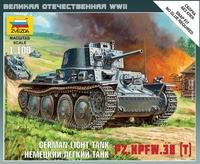 Сборная модель Немецкий лёгкий танк Pz.Kpfw-38 (T) 1/100