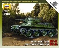 Сборная модель Советский легкий танк БТ-5 1/100