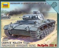 Сборная модель Немецкий средний танк PZ.Kpfw. T-IIIG 1/100