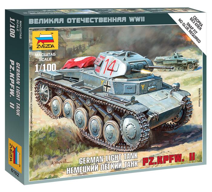 Сборная модель Немецкий легкий танк PZ.KPFW.II 1/100