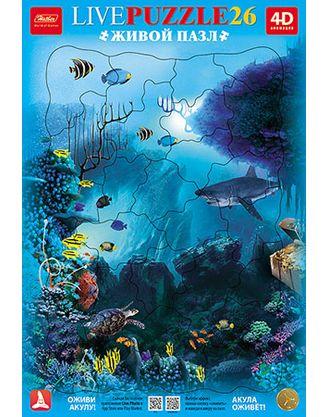 Пазл 26 Акула в рамке