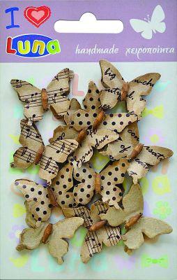 Бабочки декоративные расписные 11шт