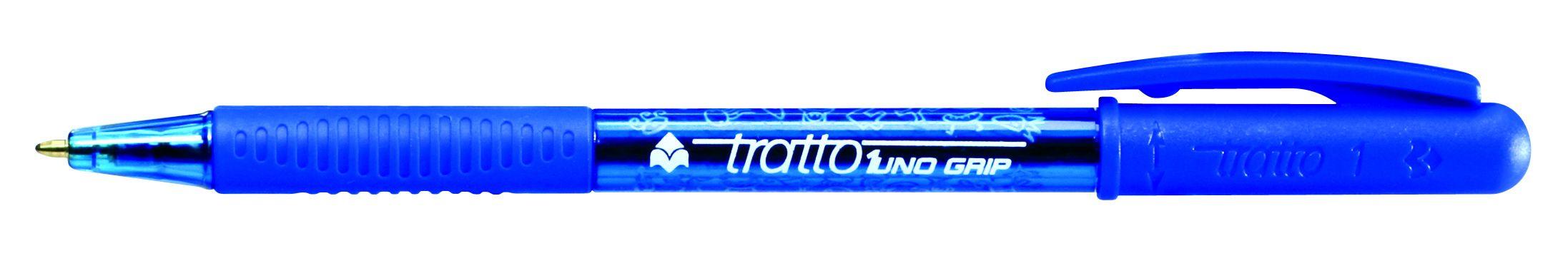 Ручка шариковая Tratto 1 синяя поворот 1мм