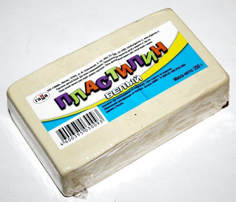 Пластилин 1 цв белый 250гр