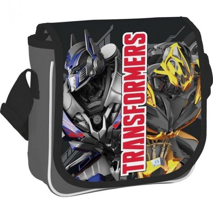 Сумка детская Transformers серая на ремне