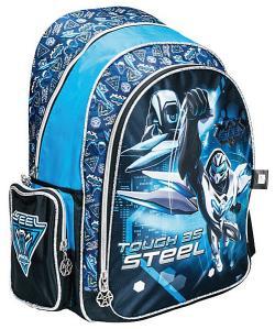 Рюкзак Max Steel полуортопед черный с голубым