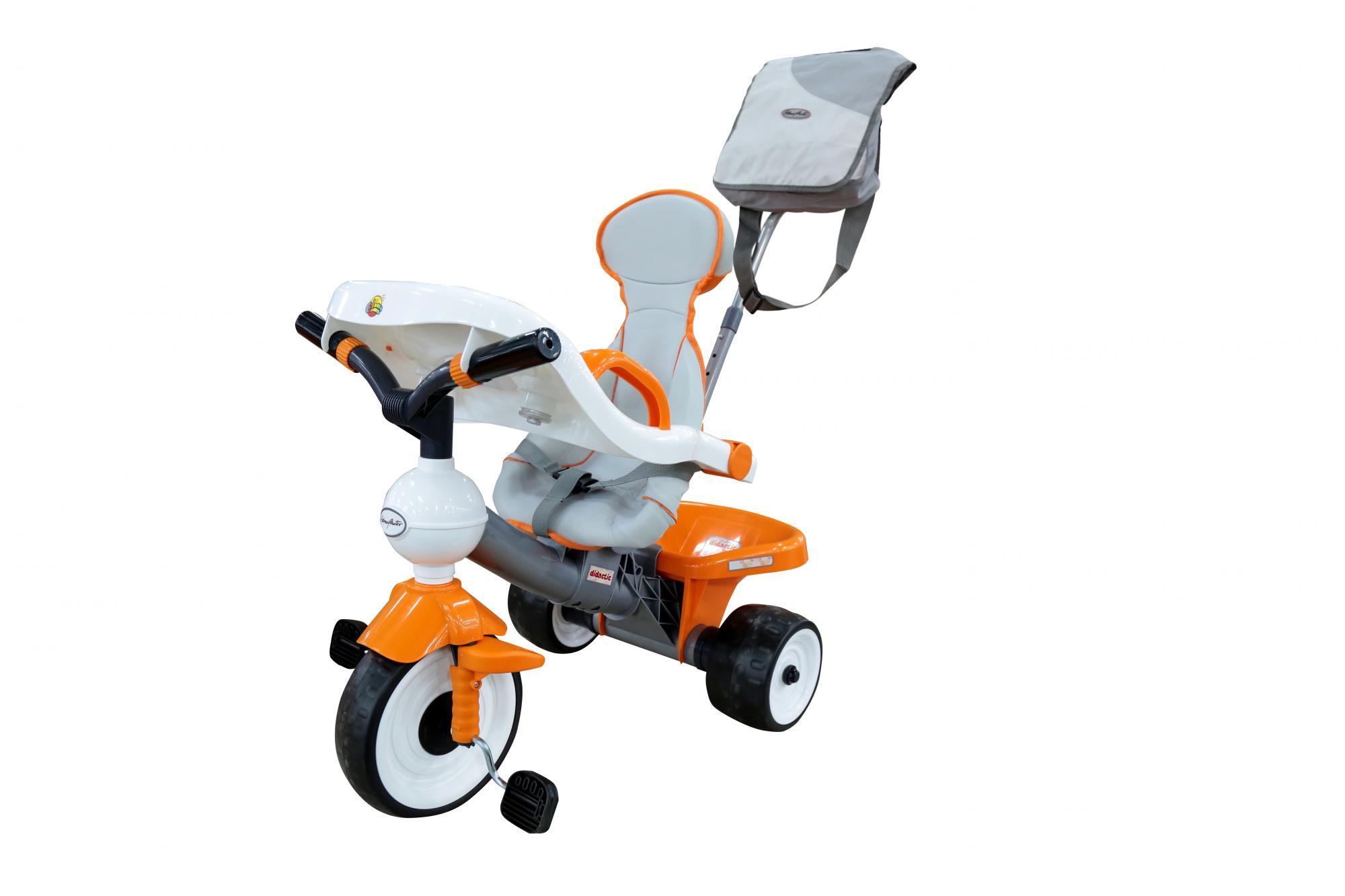 Велосипед 3-х колесный Дидактик №2 с игр панелью ремешком ручкой сумкой