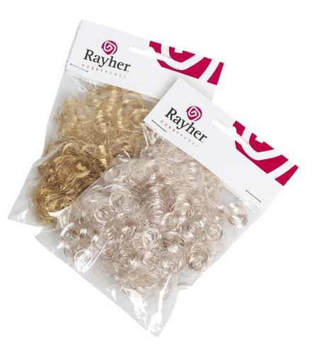 Волосы для кукол синтетические 17г/уп Серебристый / золотистый