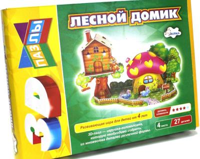 АКЦИЯ19 Пазл 3D Лесной домик 27 дет