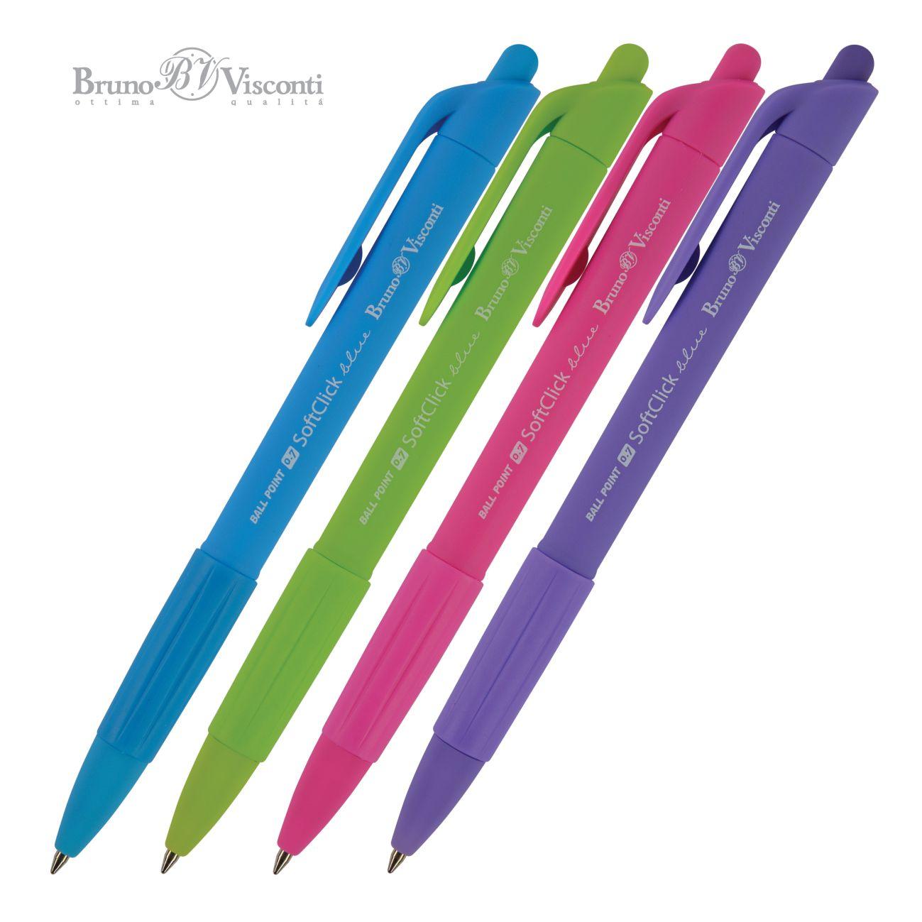 Ручка шариковая Bruno Visconti SoftClick Special 0,7мм в ассортим