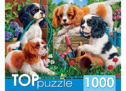 Пазл 1000 Toppuzzle Озорные щенки спаниелей