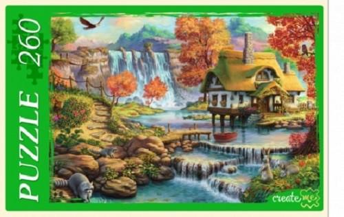 Пазл 260 Дом у большого водопада