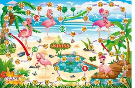 Игра Настольная Розовый фламинго (ходилка)