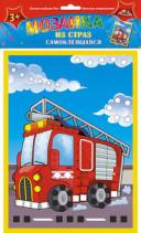 Творч Мозаика из страз самокл. Пожарная машина