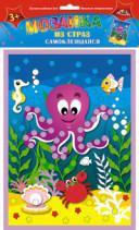 Творч Мозаика из страз самокл. Веселый осьминог