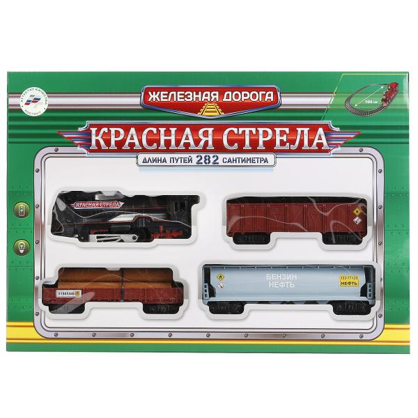 Железная дорога Красная стрела на бат. свет+звук, 282см