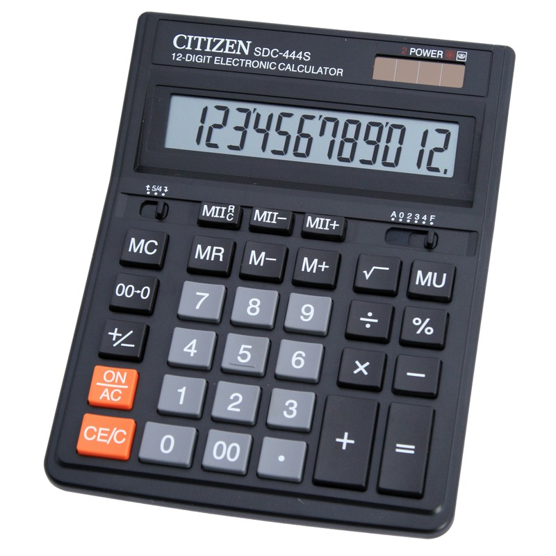 Калькулятор 12 разр. CITIZEN ДВОЙНАЯ КАРТОЧКА