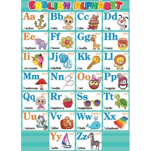 Плакат Английский алфавит! English Alphabet! А2, вертик