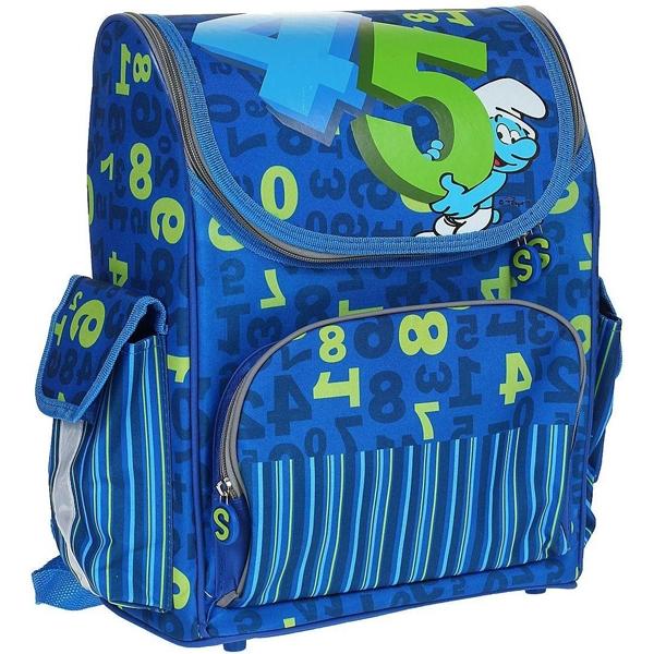 Рюкзак Смурфики ортопедический синий