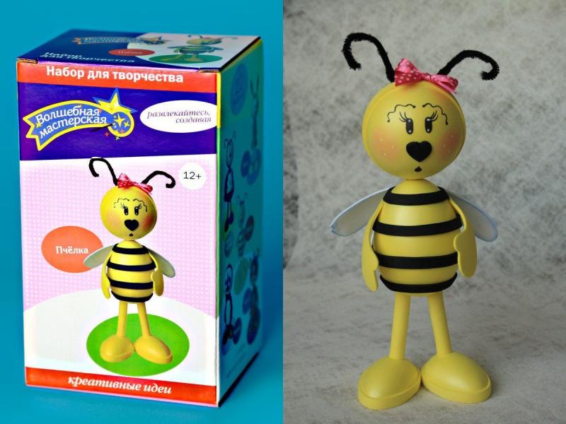 Творч Набор из фоамирана Кукла своими руками Пчелка