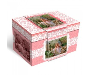 Музыкальная шкатулка для украшений Lisa Jane короб розов феечка