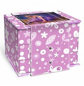 Шкатулка для украшений Lisa Jane с выдвижн ящиками фиол
