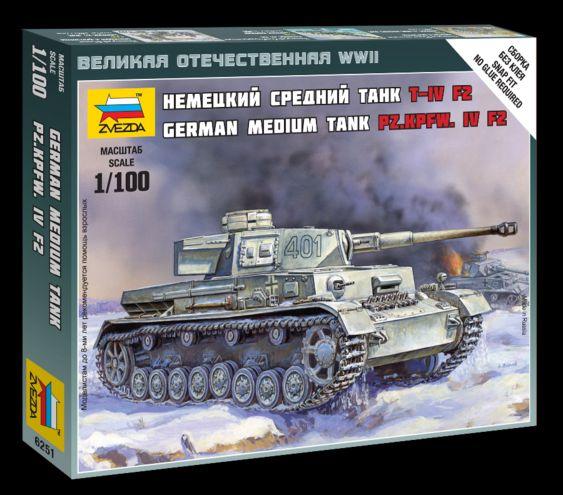 Сборная модель Немецкий танк Т-4 F2 1/100