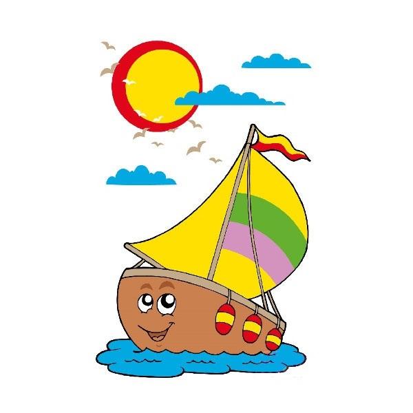 Горько, картинка кораблика с парусами для детей