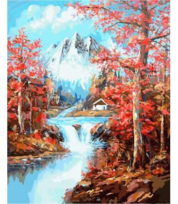 Картина по номерам 40*50 Весна в горах
