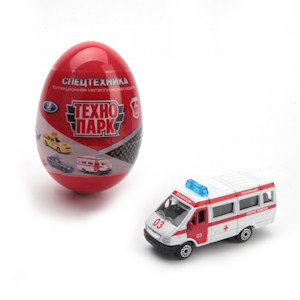 Машинка Спецслужбы металл 1:72 в ассортим. в яйце