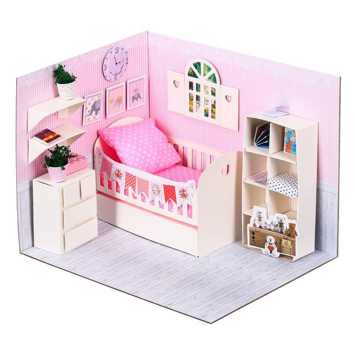 Создай Кукольную миниатюру Комната принцессы (картон, текстиль) своим