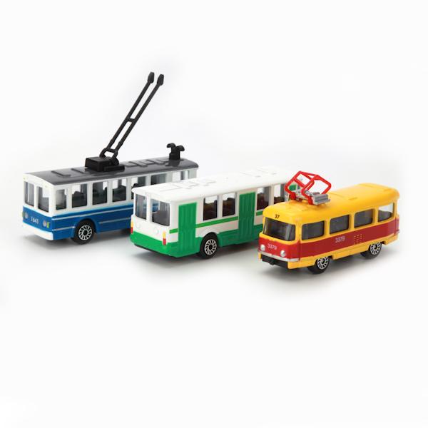 Машина Городской транспорт метал. 1:72 ассортим