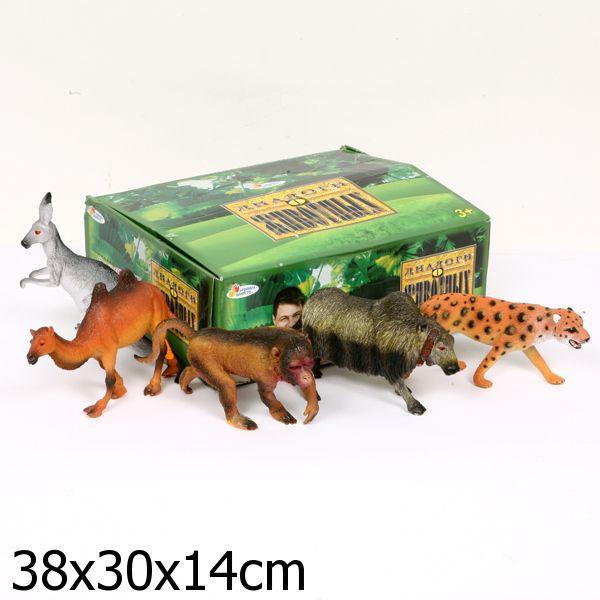 из ПВХ Дикие животные 16-25 см. в ассортим.
