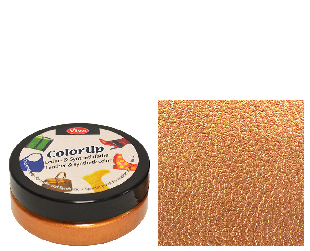 Краска д/кожи и синтетики Color up 50мл бронза