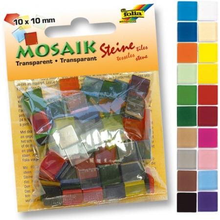 Мозаика 10*10мм Прозрачная Ассорти 20цв 190шт