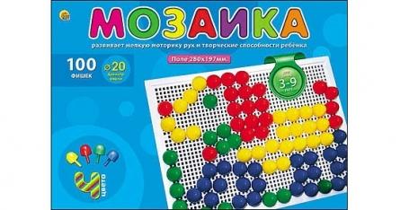Мозаика 100 фишек d=20 мм пластм.