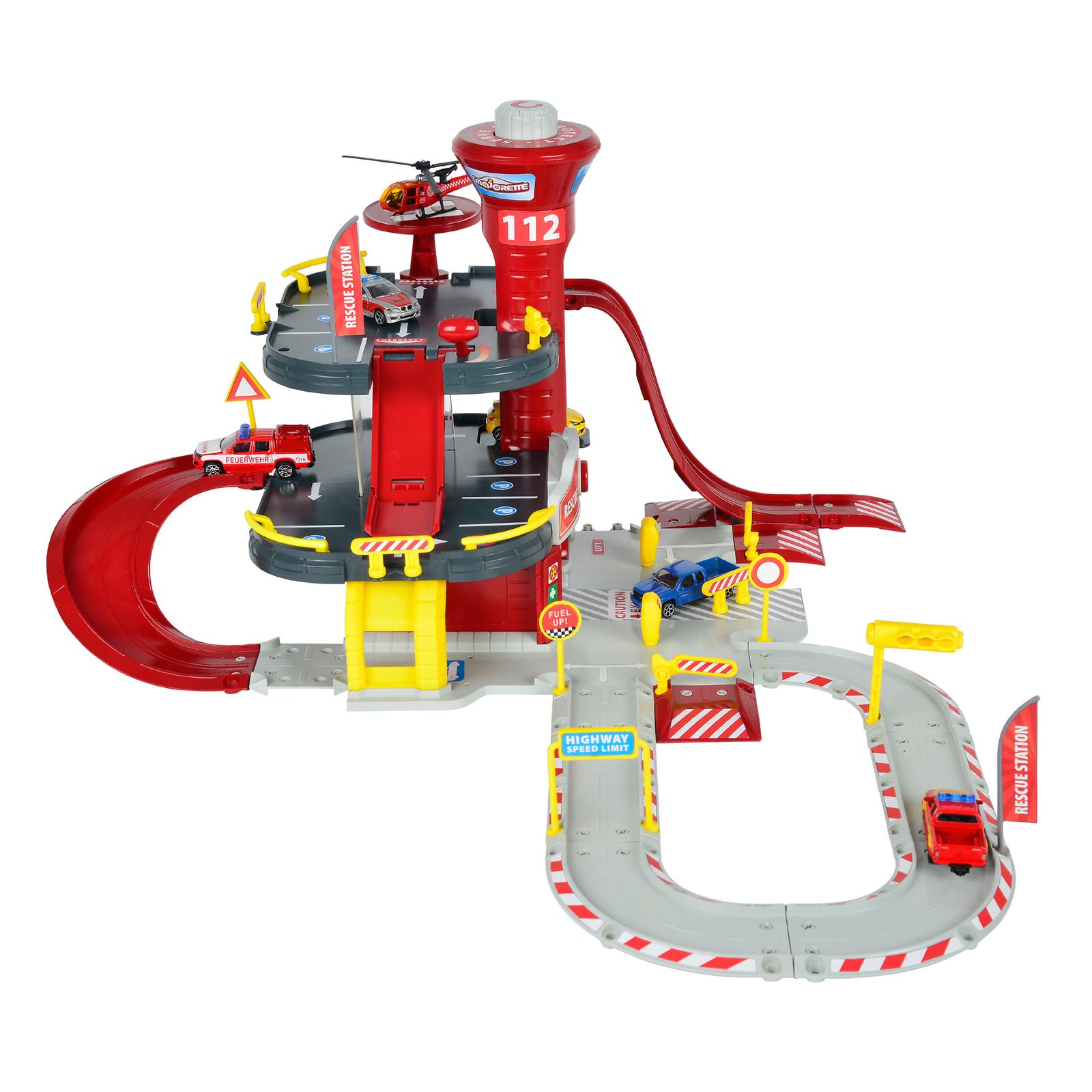 Набор Парковка. Пожарная станция Creatix + 1 вертолет и 1 машинка