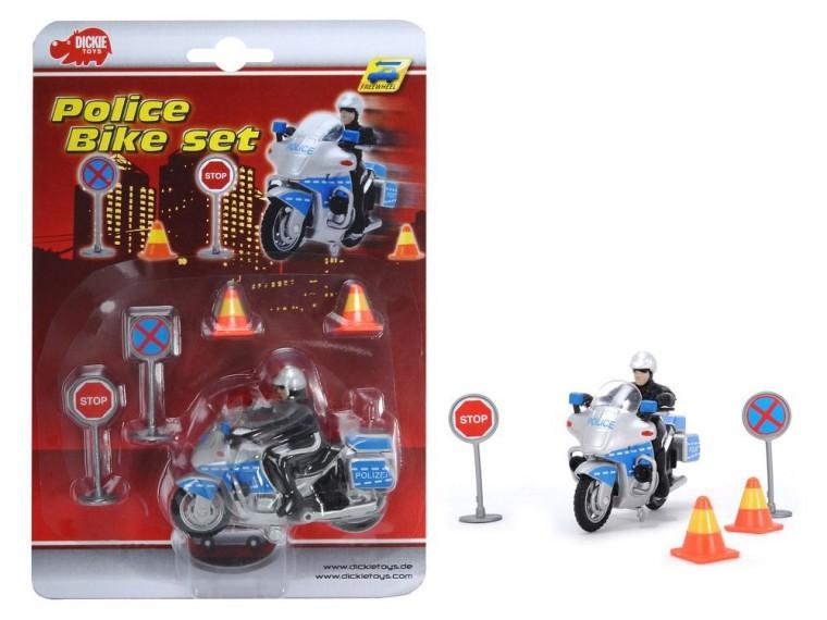 Набор Полицейский (мотоциклист + знаки)