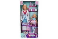 АКЦИЯ-20 Игр набор Куклы Штеффи - врач и Еви на костылях 29 см + 12 см