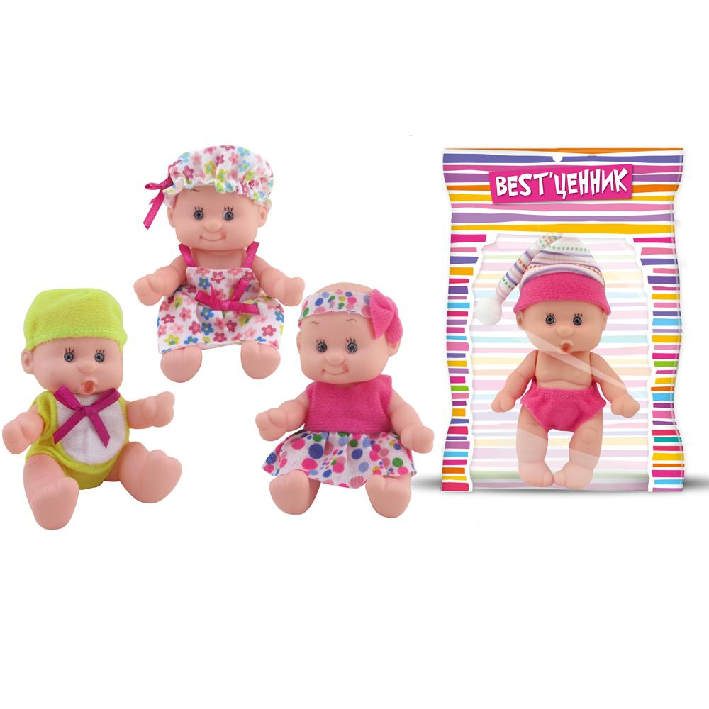 Кукла Пупс 10см в шапке ассортим