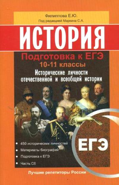 История. 10-11 кл.: Подготовка к ЕГЭ. Исторические личности отечественной и
