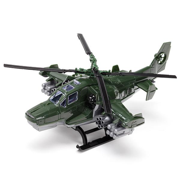 Вертолет военный (зеленый) пластмас.