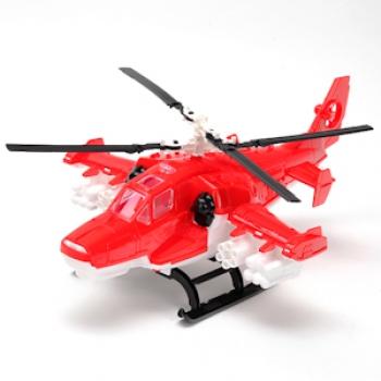 Вертолет Пожарный (красный) пластмас.