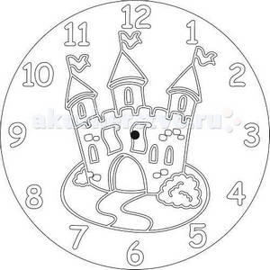 Песочный трафарет Часы Замок (основа + часовой механизм)