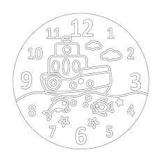 Песочный трафарет Часы Кораблик (основа + часовой механизм)