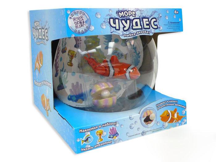 АКЦИЯ19 Игр набор Рыбка-акробат с аквариумом на батар.