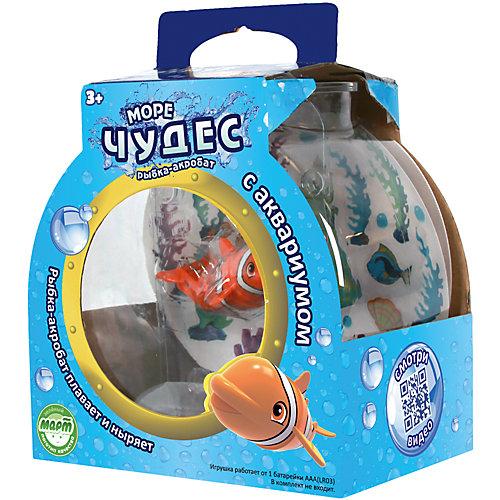 набор Рыбка-акробат Лаки с аквариумом (плавает, ныряет)