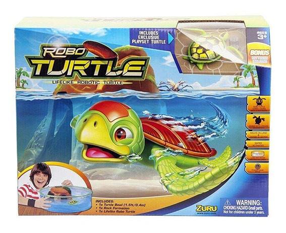 набор Робочерепашка и аквариум с островом на батар.